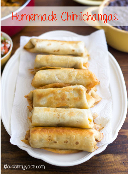 Homemade chimichangas